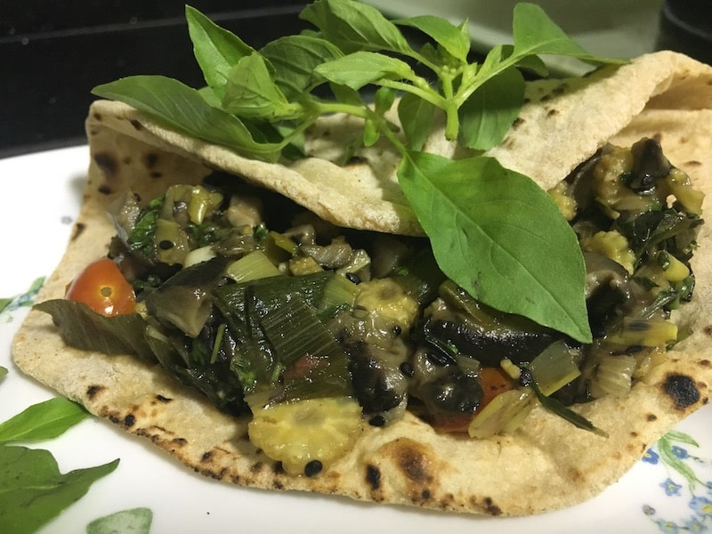 lemon-basil-vegetable-wrap-shiitake-mushroom